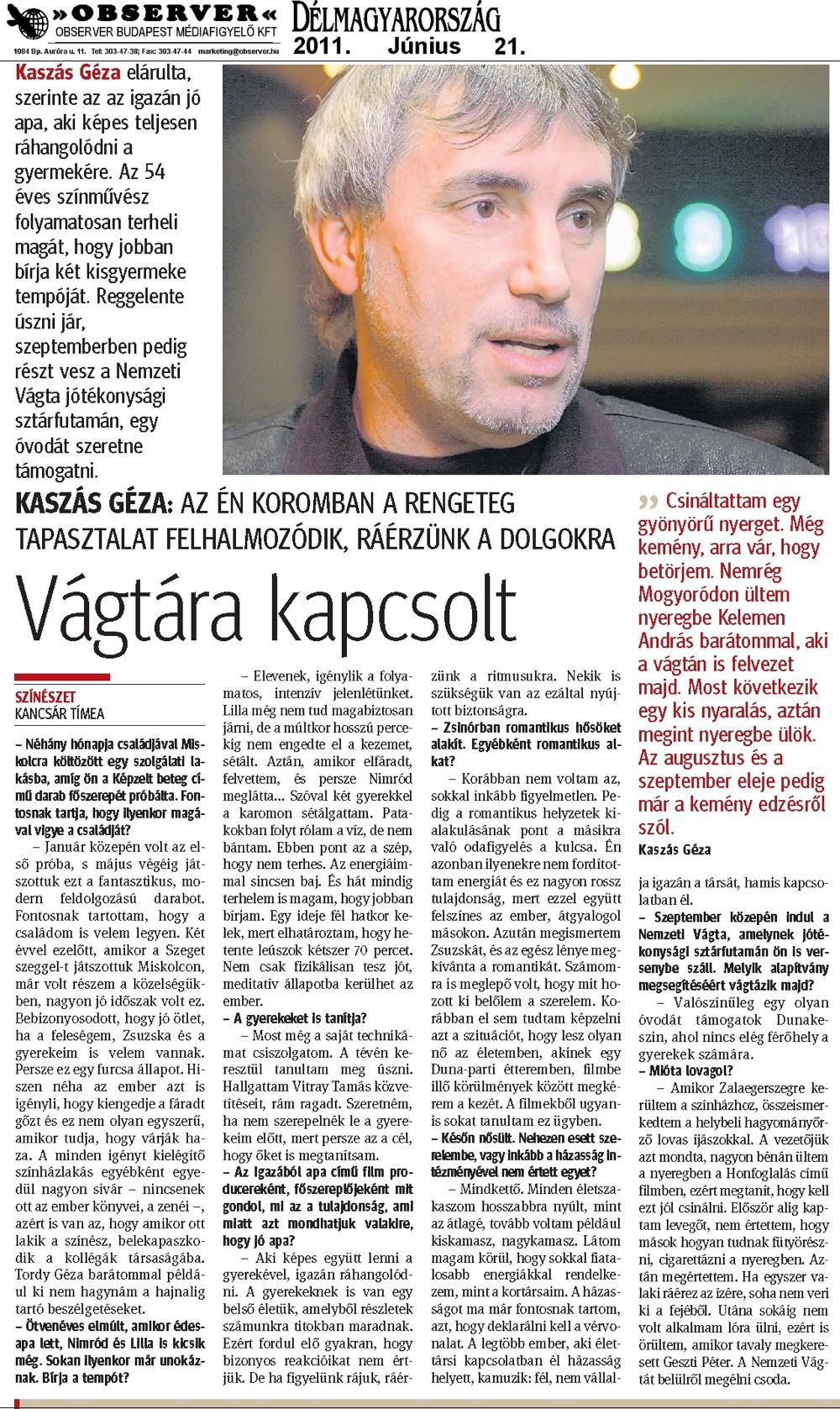 Délmagyarország - 2011.06.21.