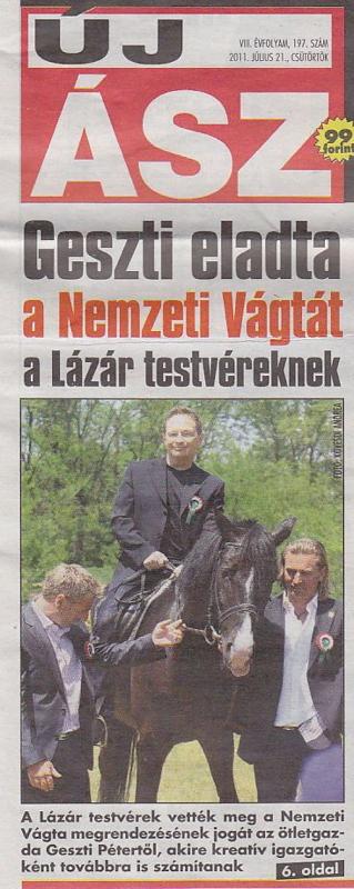 Új Ász (címlap) - 2011.07.21.