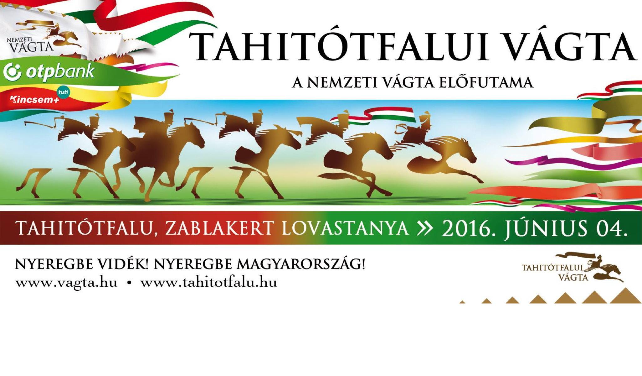 A Tahitótfalui Vágta programja